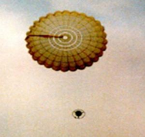 Airborne Systems. Custom design and development of military-grade Entry, Descent & Landing Systems (EDLS) for commercial spacecraft. Old picture of Beagle 2 landing dragging canopy.