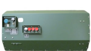 Parachute Oxygen Systems for Military - Oxcon, Oxcon military parachute oxygen systems for army jumpers. Lightweight, portable oxygen console for high altitude parachutists. 2- to 8-man configurations. Green metal box with blue and red knobs.