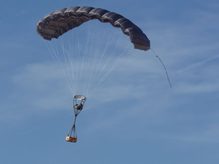 Airborne Systems FireFly Army Cargo Delivery Parachute System. JPADS 2K System of Choice. Carries & FireFly Army Cargo Delivery Parachute | Airborne Systems